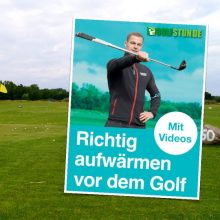 aufwärmen golf